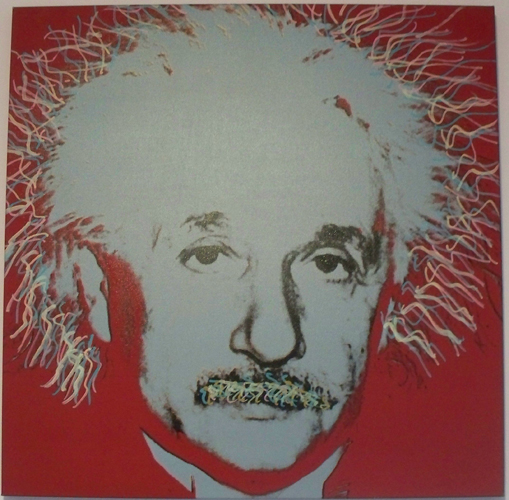 Albert Einstein Set of 3 screenprints 1998 Embellished