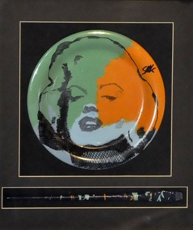 Marilyn Monroe, Ceramic Plate With Artist Brush