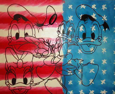 All American Donald and Daisy Duck