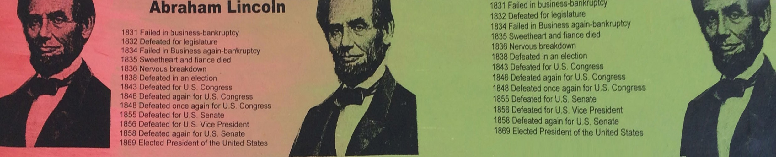 Abe Lincoln Portrait of an Achiever - PP