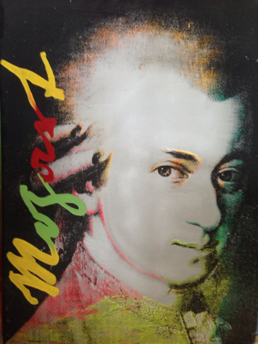 Mozart State I And II, Set of 2 Unique  Screenprints 2000 Unique 44x35