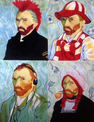 4 Sides of Van Gogh 46x35 by Steve Kaufman