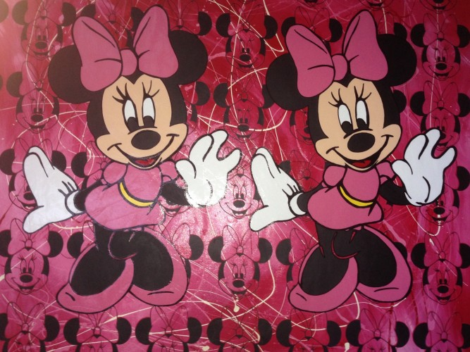 Disney Double Minnie Mouse Red Pollock Unique 2000