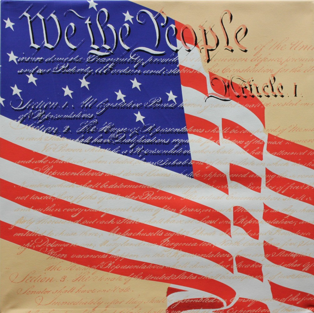 We the People (Tribute to the U.S. Constitution) Unique 20x20