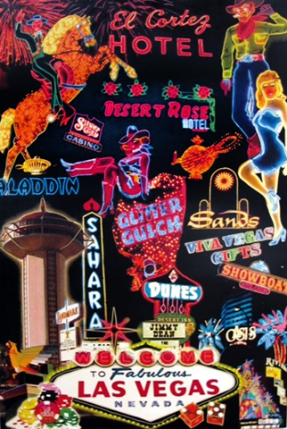 Las Vegas Icons 1999 61x40 Unique