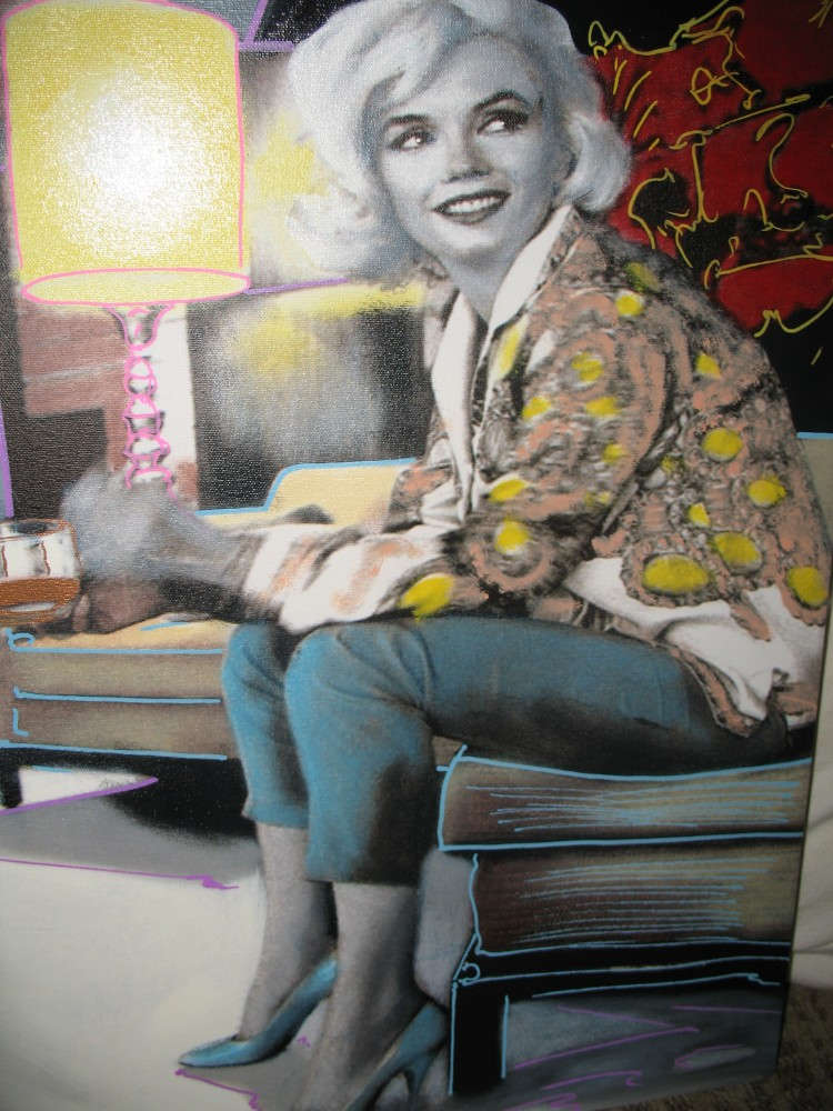 Marilyn / Norma Jean Relaxing Unique 1999 18x24