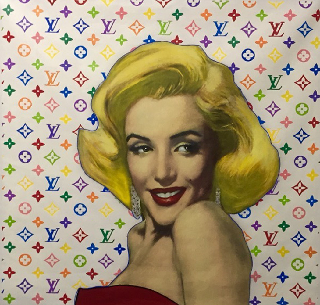 Marilyn Louis Vuitton Unique 1995  40x40