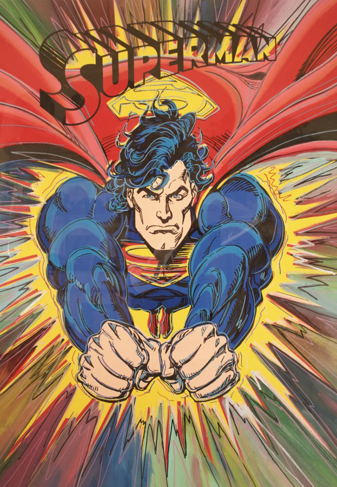 Superman 1995 47x35 Embellished
