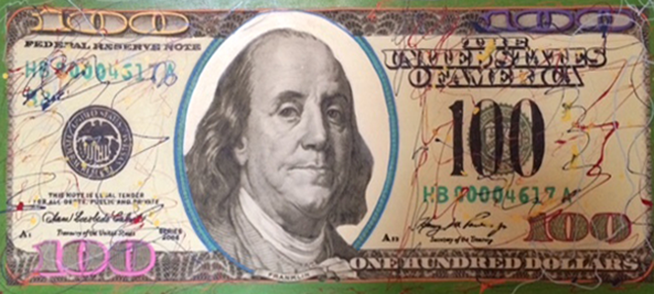 New $100 Bill Unique 2007 20x46