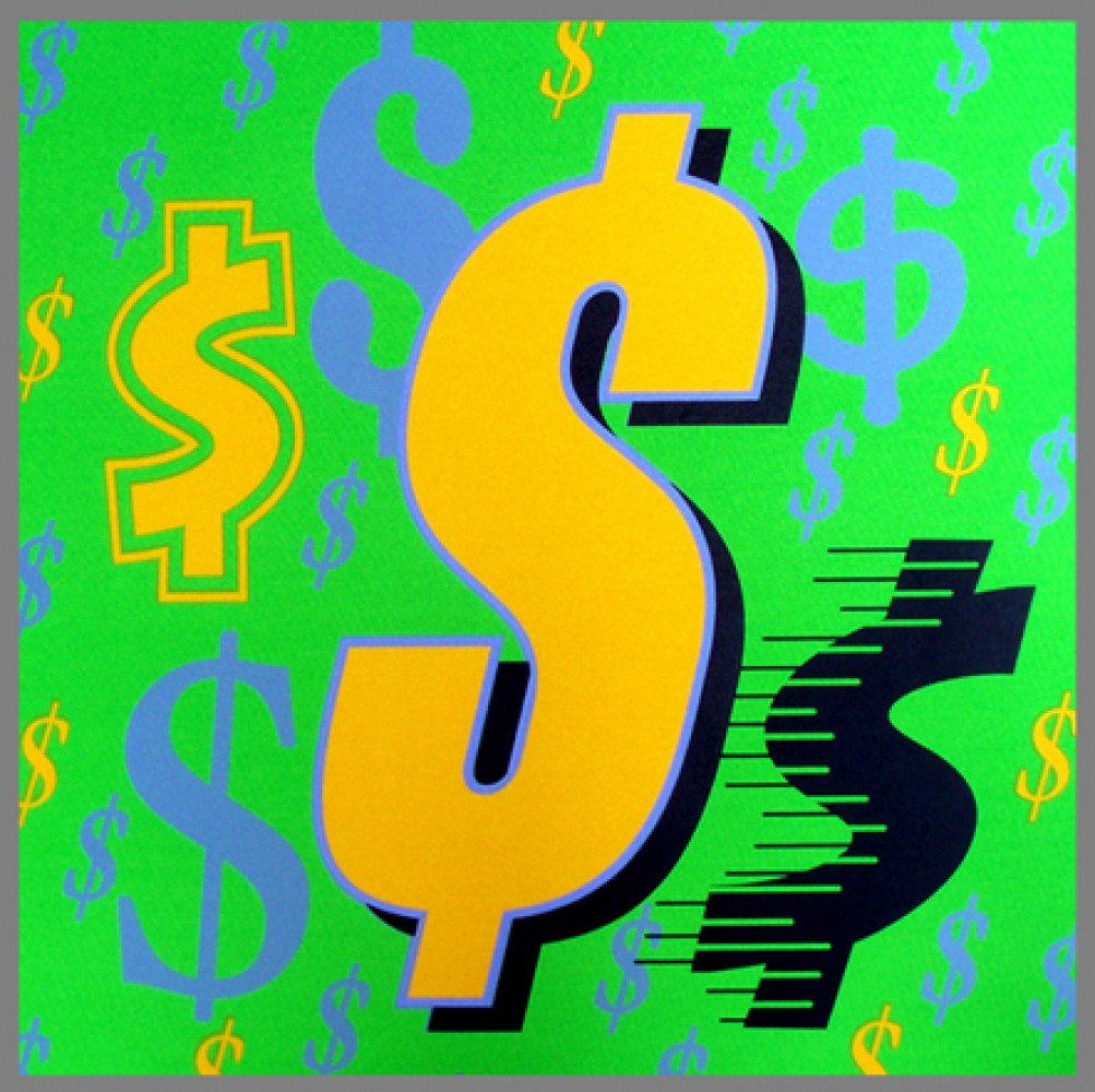Suite of Four Dollar Signs Paintings 2006