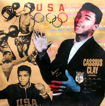 Ali Olympic Hand Signed Ali and Cassius Clay