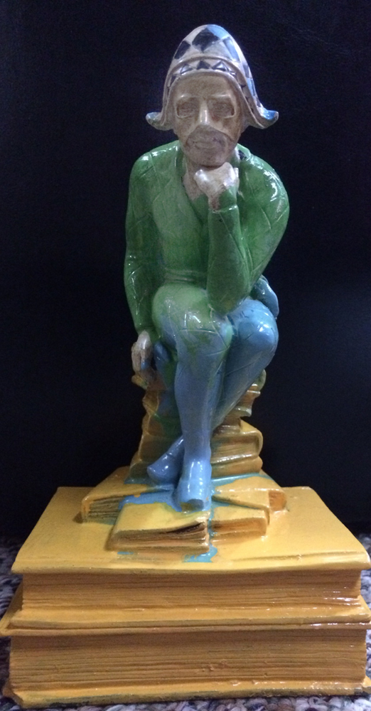 Jester Acrylic  Sculpture Unique 8 in