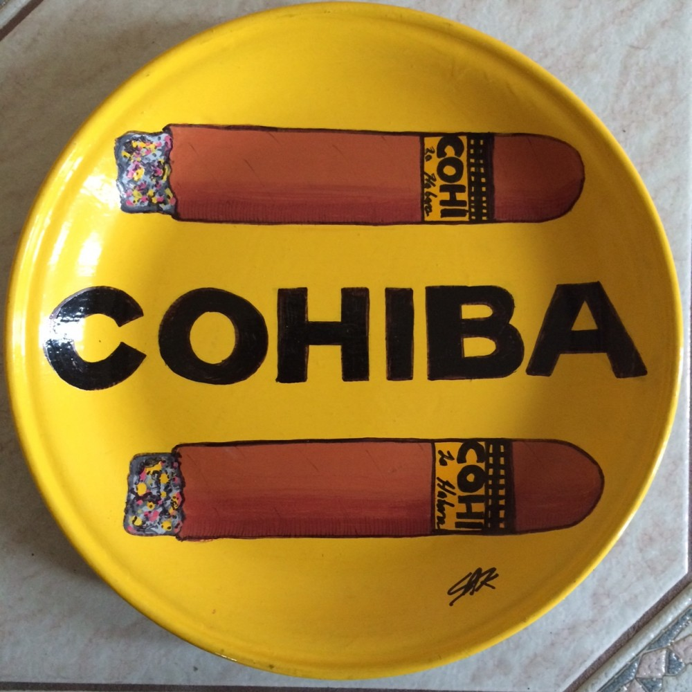Cohiba Cigars Ceramic Plate Unique
