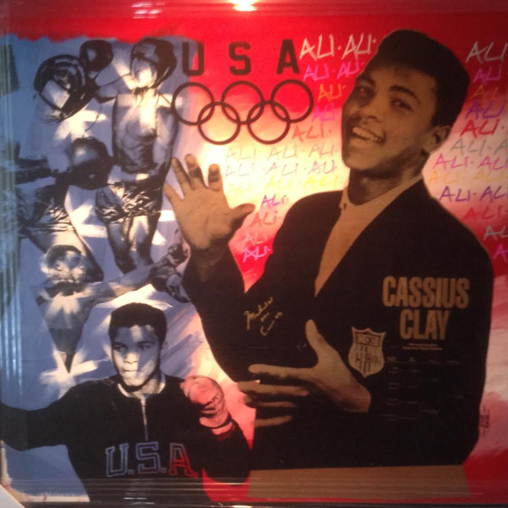 Ali Olympic Double signed Ali, Clay 1995
