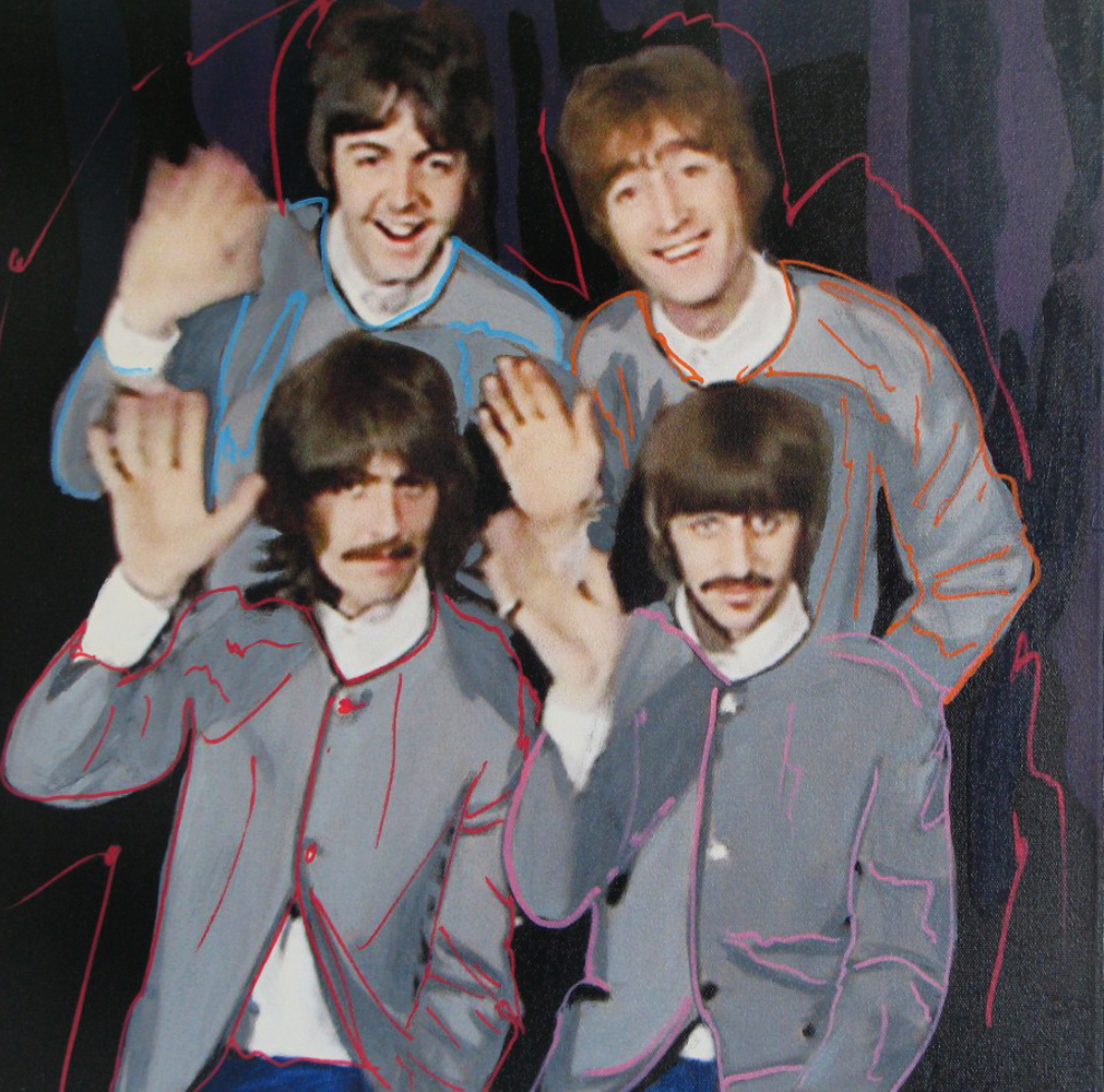 Beatles in Grey Jackets Unique 2002 19x19