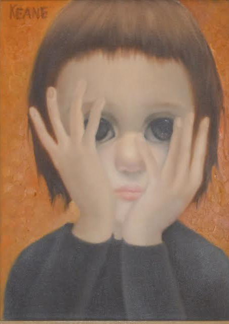 Face And Hands 1959 16x19 (Big Eyes)