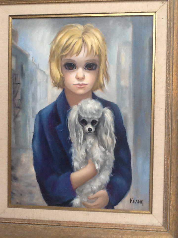 Blond Girl And Poodle (Big Eyes)