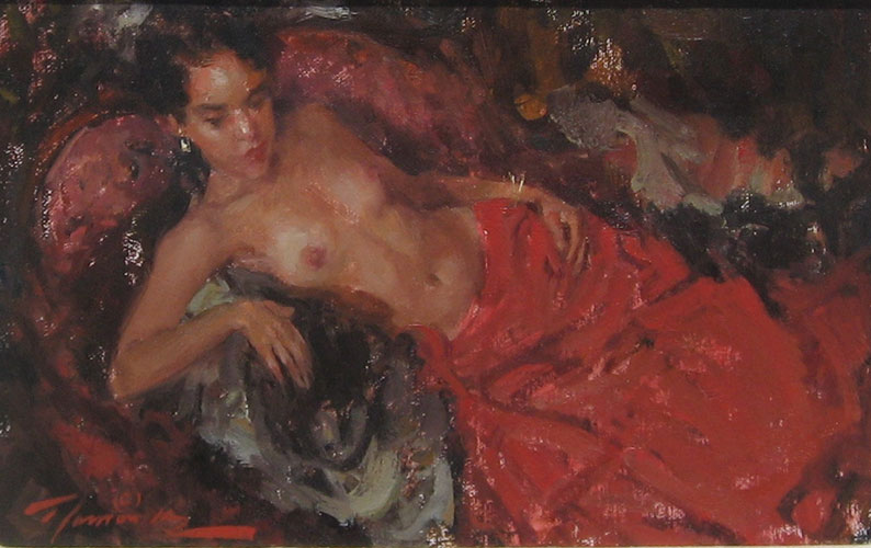 Nude in Red 1993 8x10