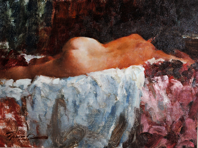 Sleeping Nude Model 1984