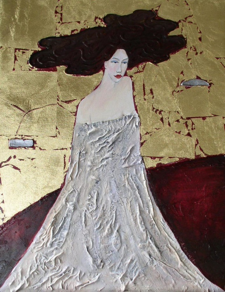 Lady in Gold 24x20
