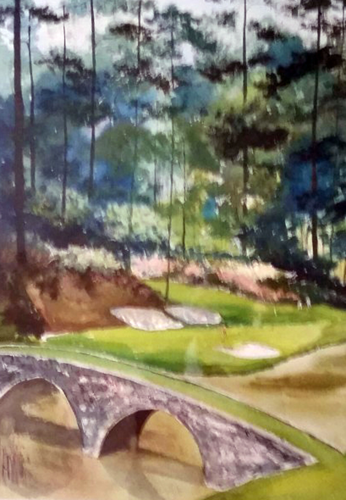Augusta #12 Watercolor 31x39 Georgia