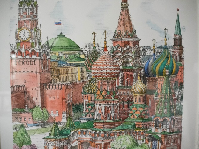 Cathedral of St Basil the Blessed, Moscow - Watercolor 2003