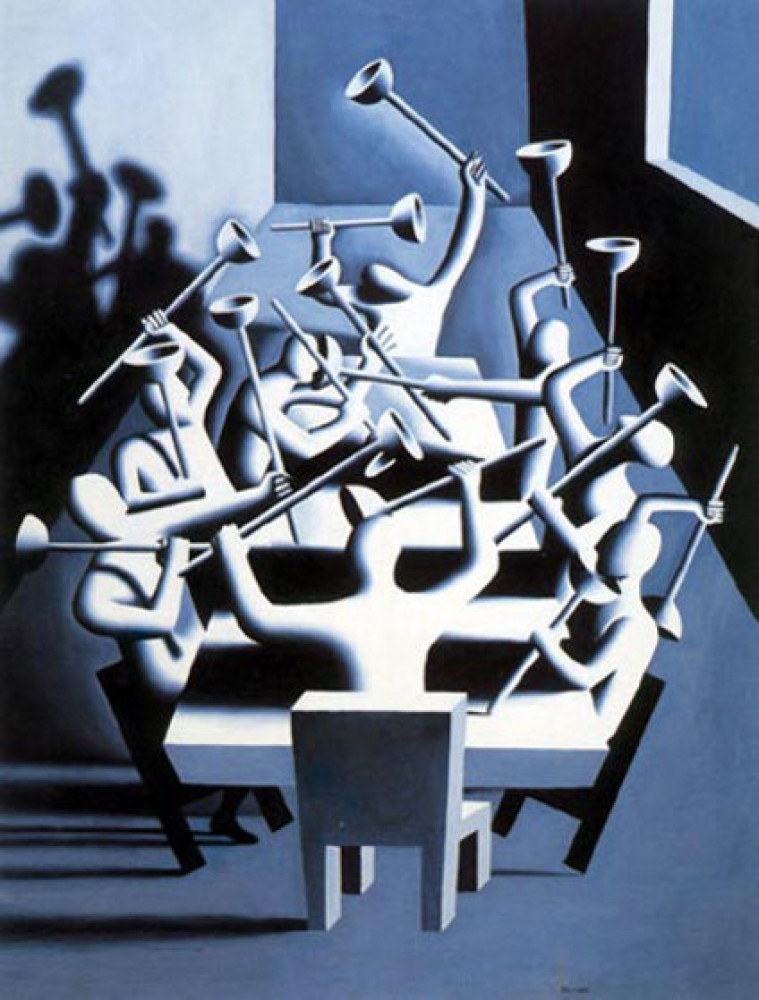 Upheaval 1994 by Mark Kostabi