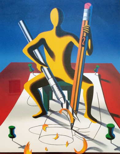 Careful With That Axe Eugene 2001 by Mark Kostabi