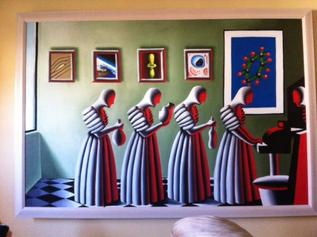 Student Loan 1988 56x80 by Mark Kostabi