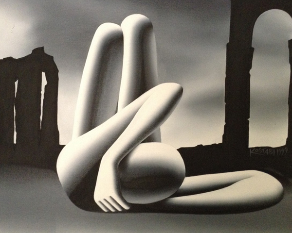 Stretching Towards the Eternal City 127x34 1999