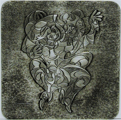 Rapture Pewter Bas Relief Sculpture