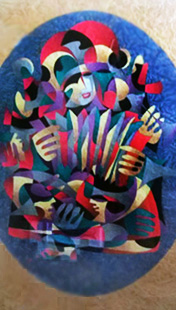 Accordion III Watercolor 2000 61x49