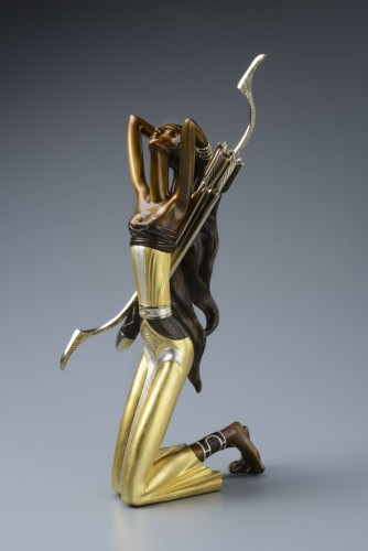 Huntress Bronze Sculpture 2014 22 c gold