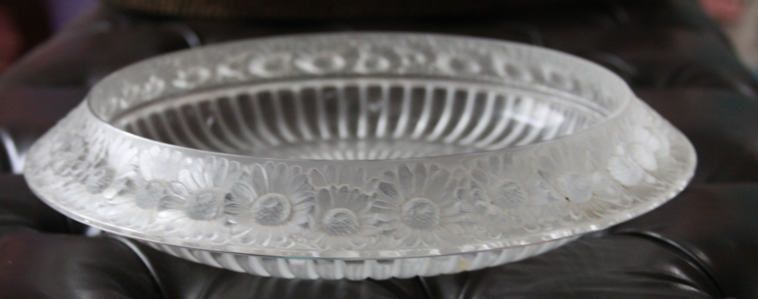 Marguerite Bowl Art Glass Sculpture