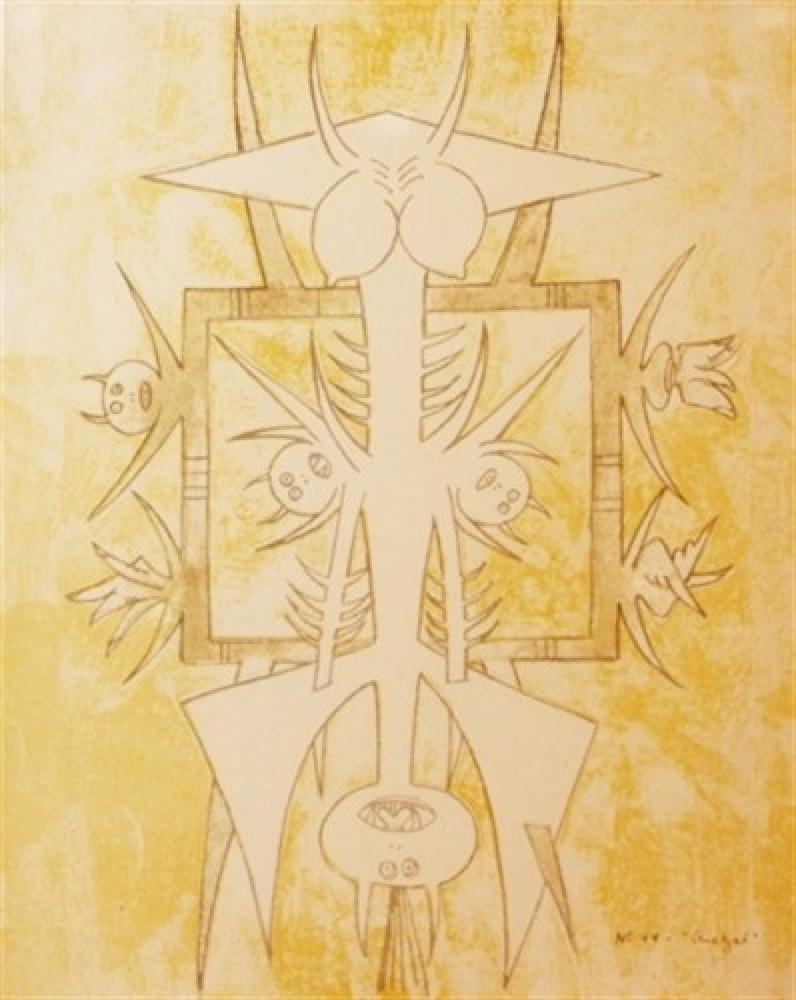 Untitled (No. 44 - Quetzal) 1975 by Wifredo Lam