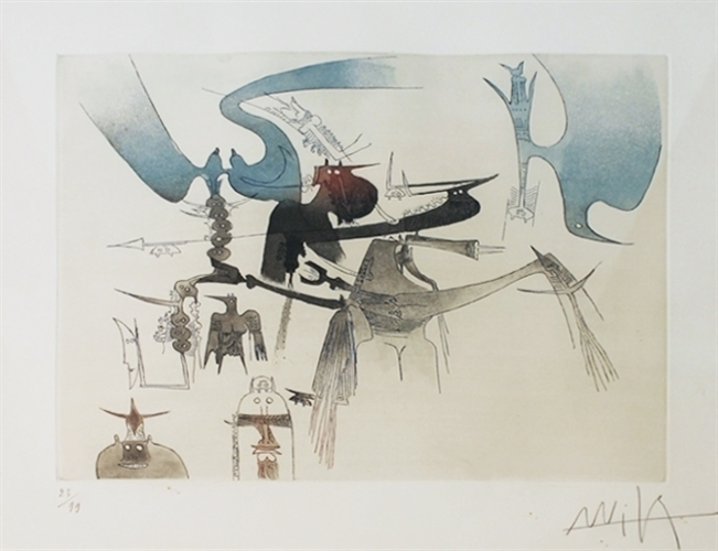 Untitled (From XXE Siecle) 1979 by Wifredo Lam