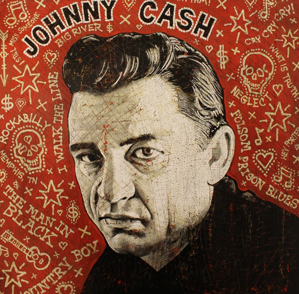 Johnny Cash 17x17