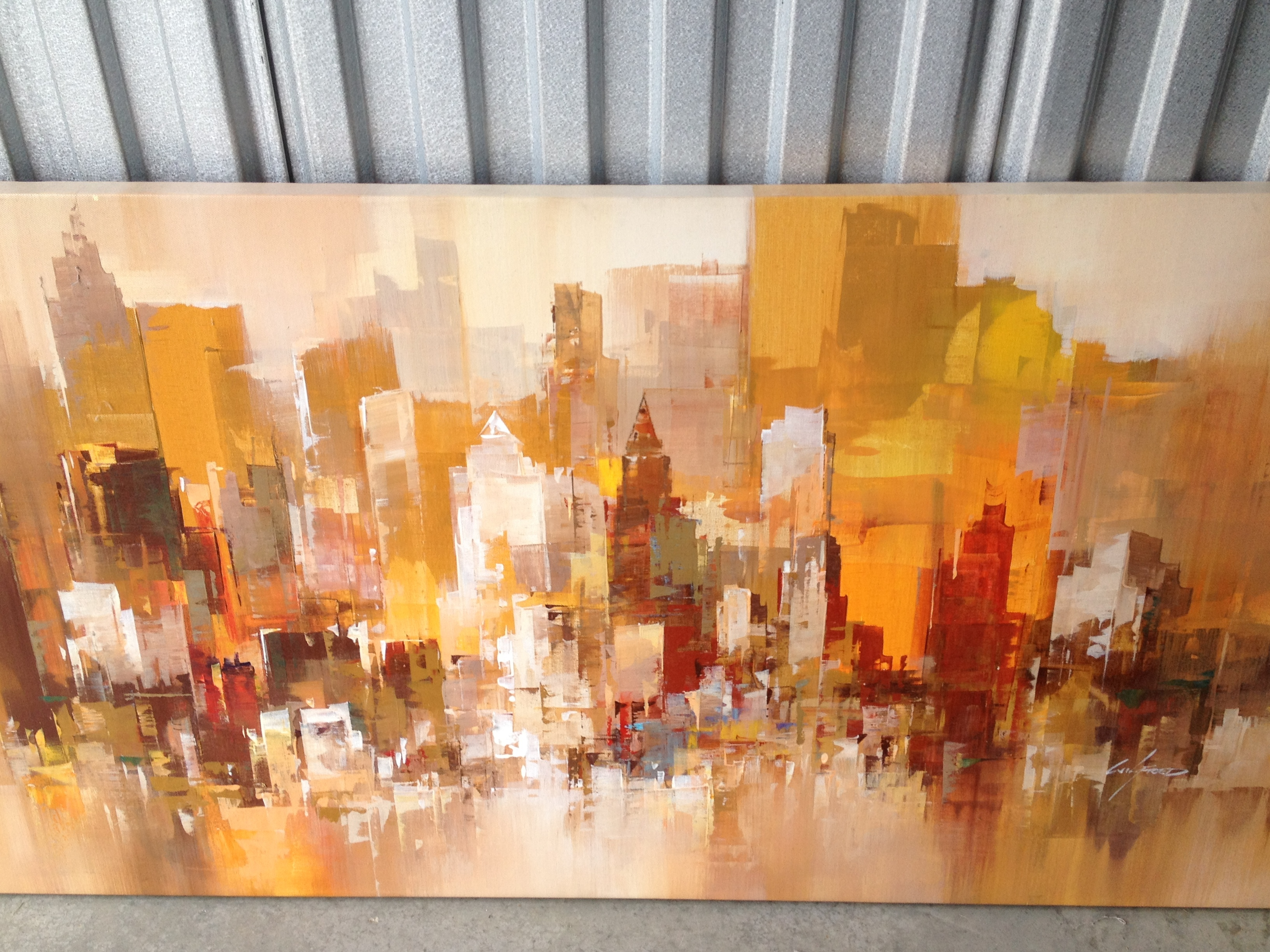 Cityscape 2007 36x48 by Wilfred Lang