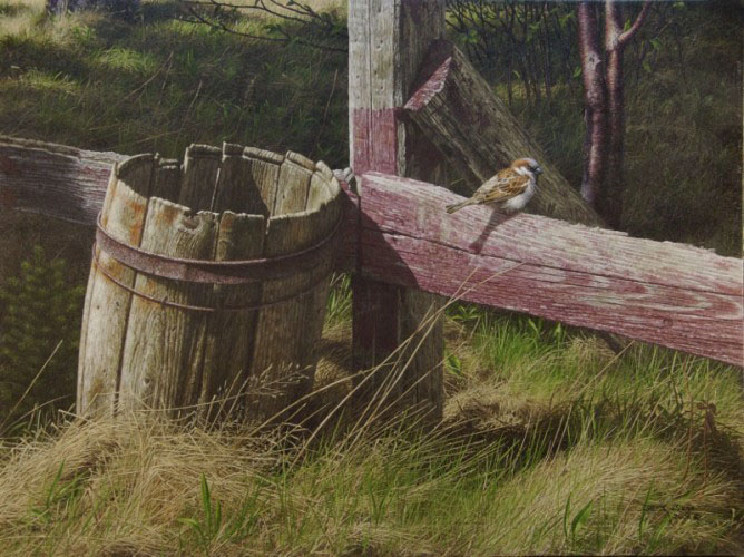 Barrel and Sparrow 2006 18x24