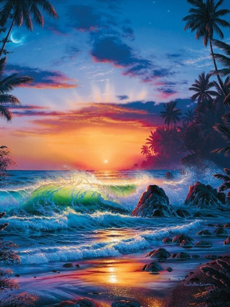 Island Sunrise 1996  Embellished