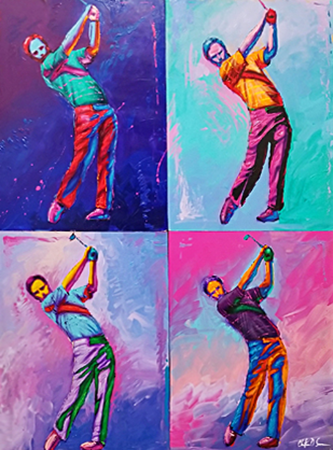 Foreplay Quadriptych 60x48