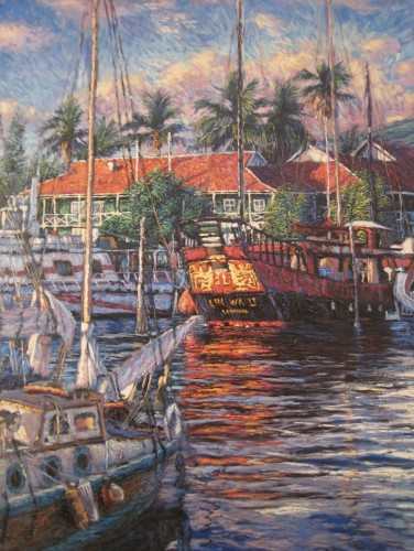 Port of Lahaina 1986 by Christian Riese Lassen