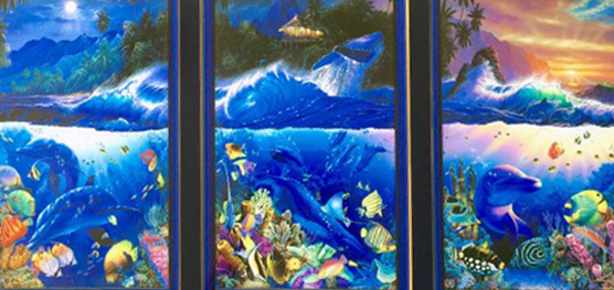 Beyond the Reef Triptych 2000