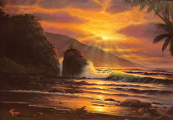 Untitled (Maui Sunset) 1981 32x38