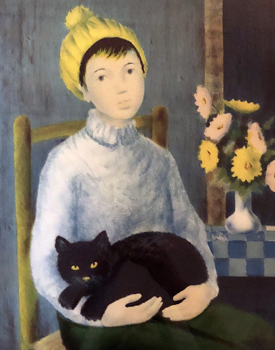 Woman With Cat  1950