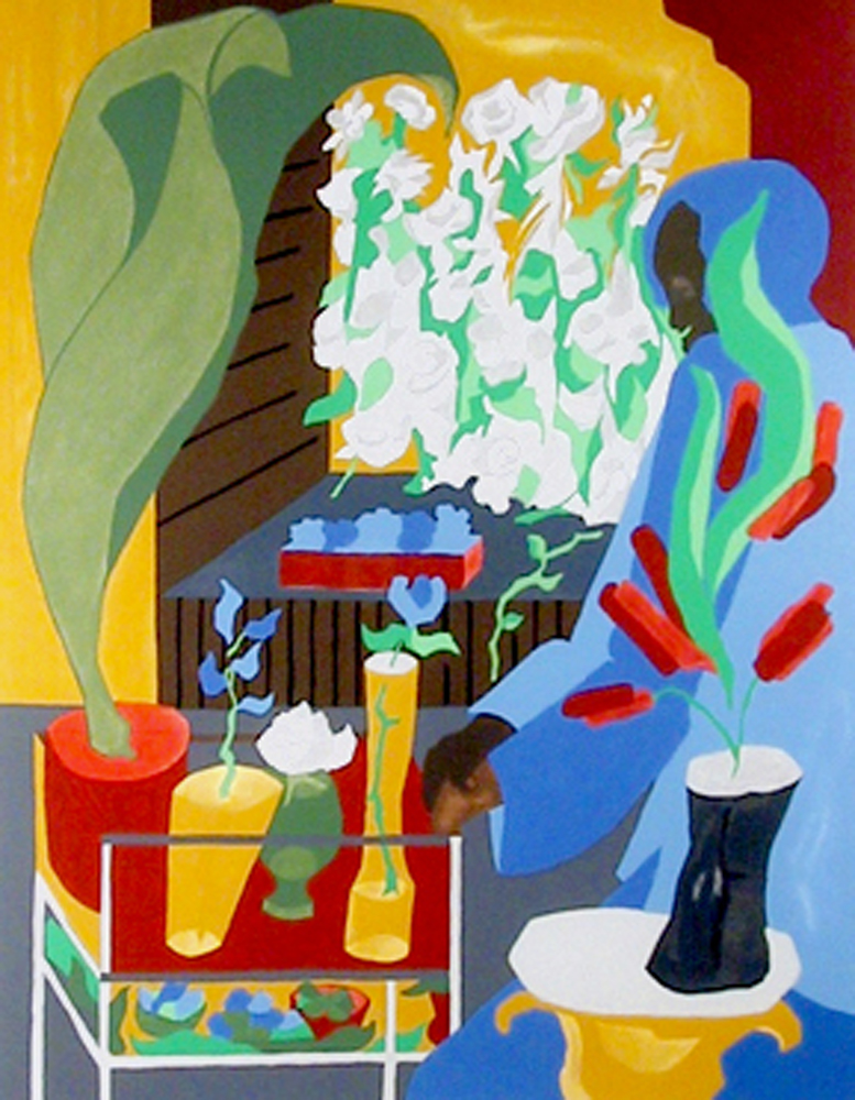 Supermarket Flora 1996 by Jacob Lawrence
