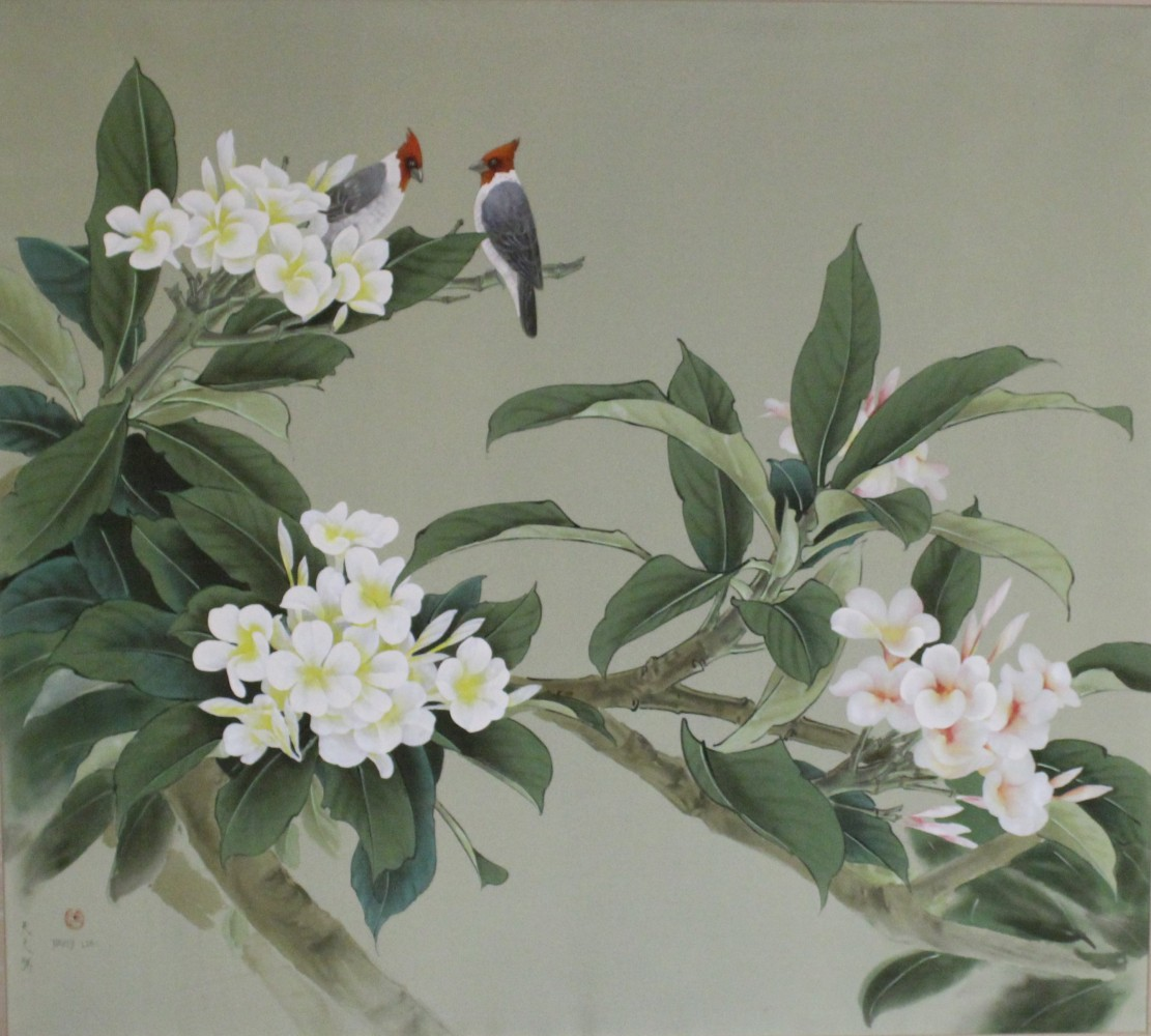 Plumeria and Cardinals 1972 43x54