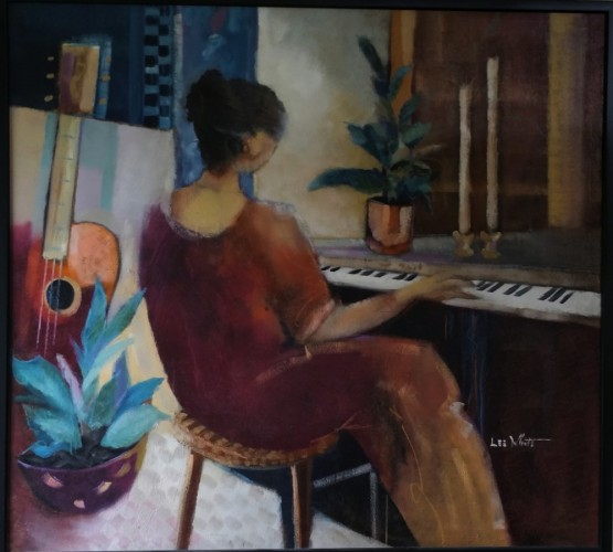 Woman With Piano 52x55