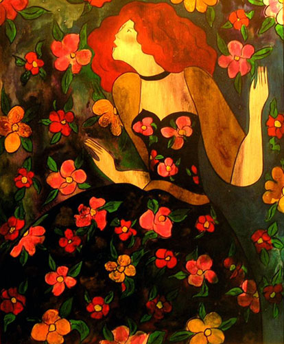 Florilege (wood panel) 1998