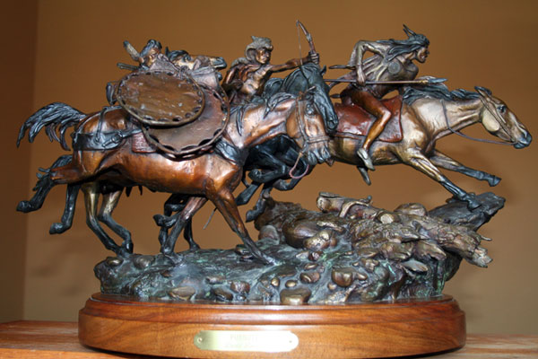 Pursuit Bronze Sculpture 1987